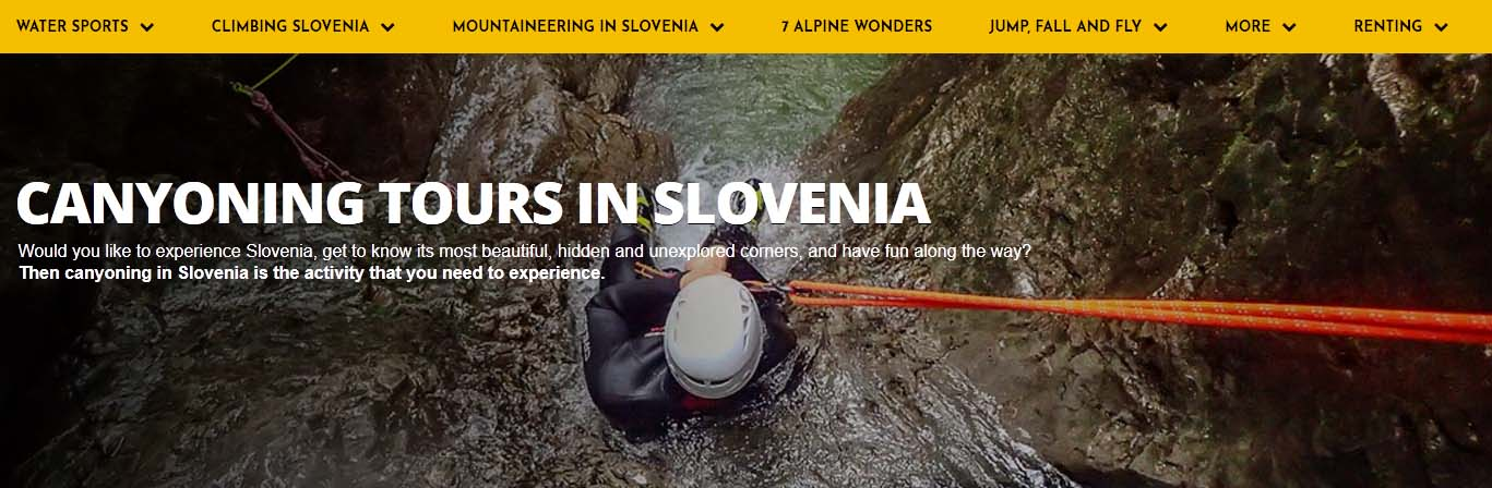 canyoning tours in slovenia - altitude activities
